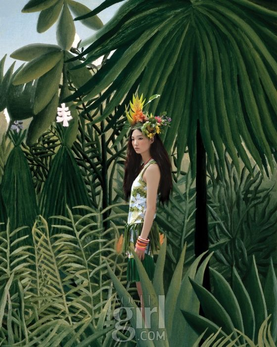 henri rousseau hommage by an jisup for vogue girl korea