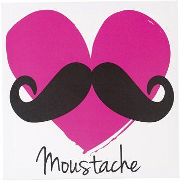 Moustache heart