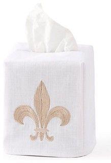 Fleur-de-Lis Tissue Box Cover
