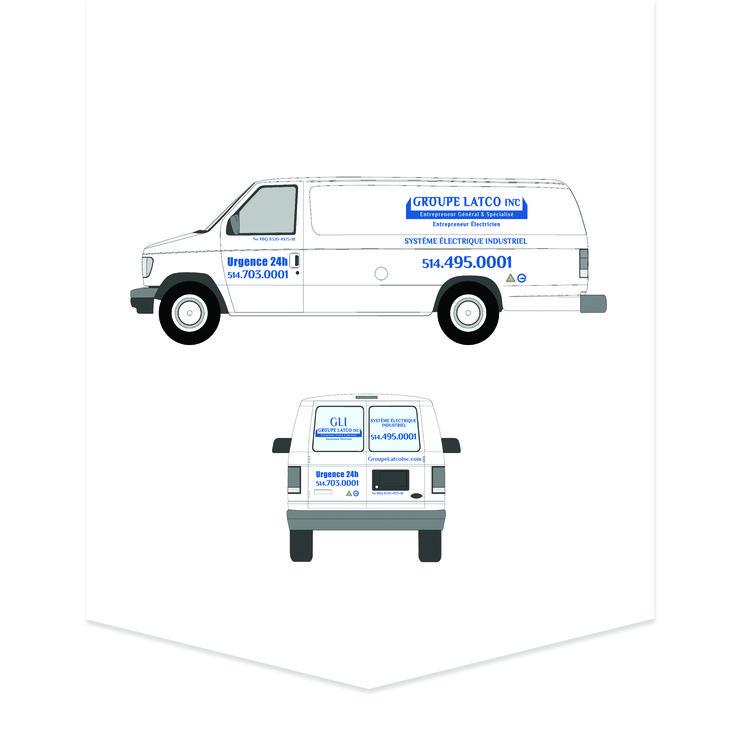 Lettrage de voiture pour Groupe Latco Inc.