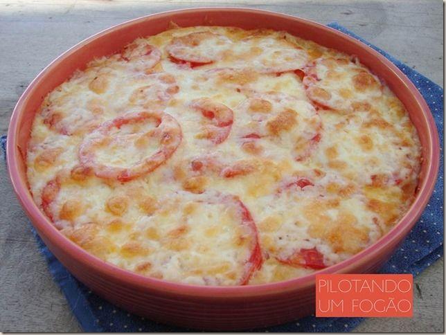 Carne moída com purê de batatas e queijo