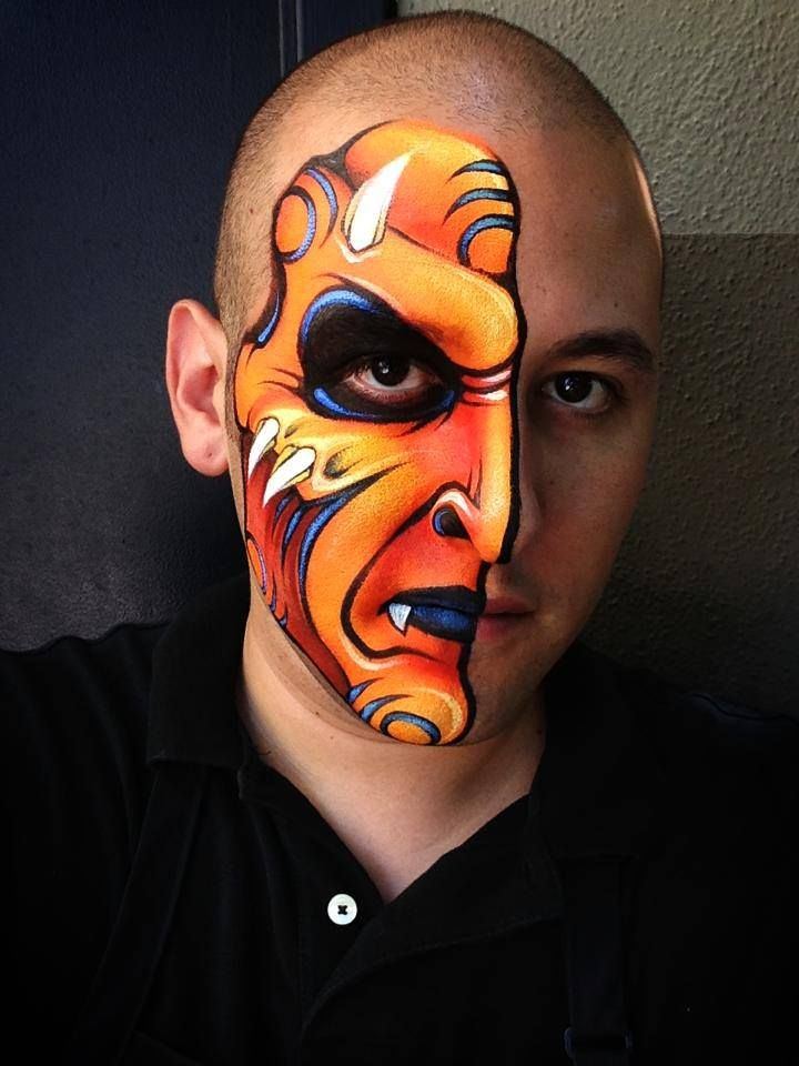 love this guys paintings - Halloween Face Paint Ideas For Adults