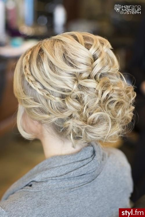 Love this for a Bridal Hair with small braid ...