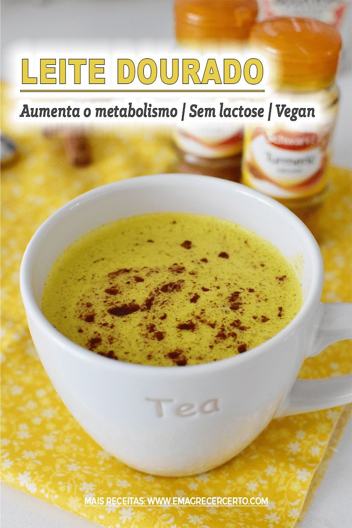 Como Fazer Leite Dourado Termogenico Ativa O Metabolismo