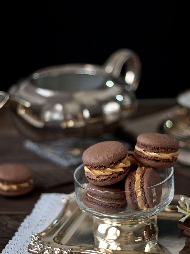 Macarons de chocolate y naranja... ¡Mi perdición!