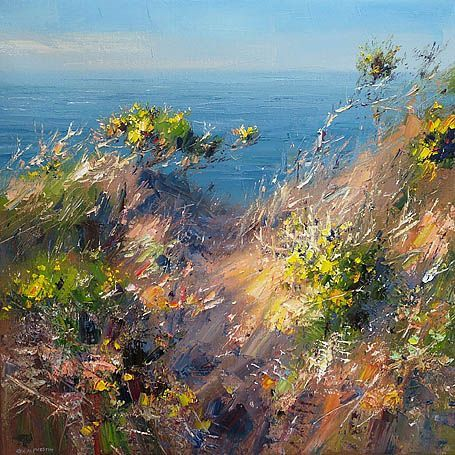 """Rex Preston - """"Afternoon Sunlight, Cornish Cliffs""""...just love the life that is in this.:"""