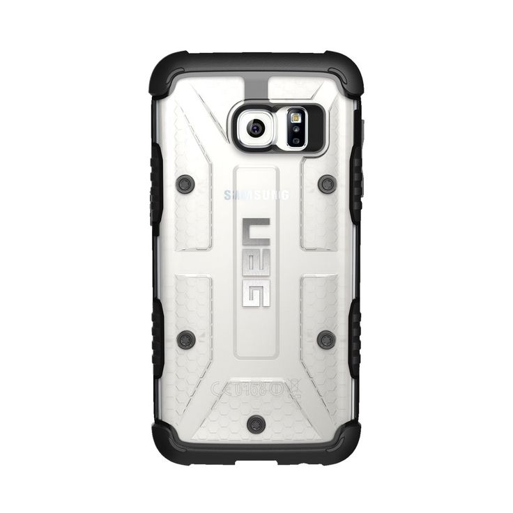 Urban Armor Gear - Ice Case for Samsung Galaxy S7 - Black/Ice (Black/White), UAG-GLXS7-ICE