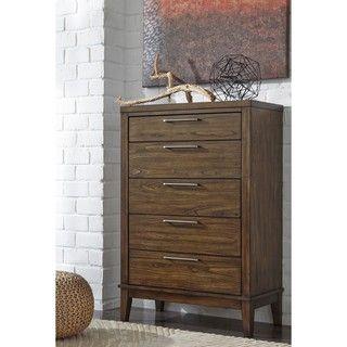 shop for signature design by ashley zilmar brown five drawer chest brown five drawer chest