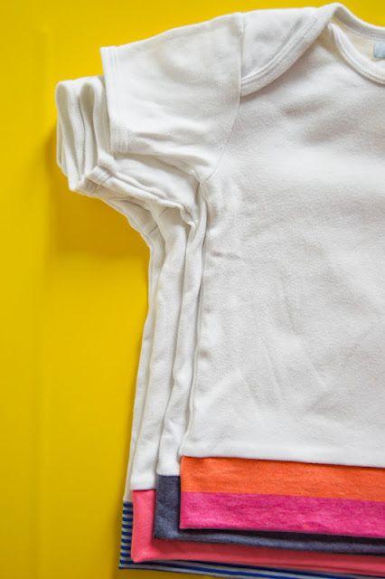 Wenn man die Bodys in 98 und größer nicht mehr braucht: In Shirts verwandeln…