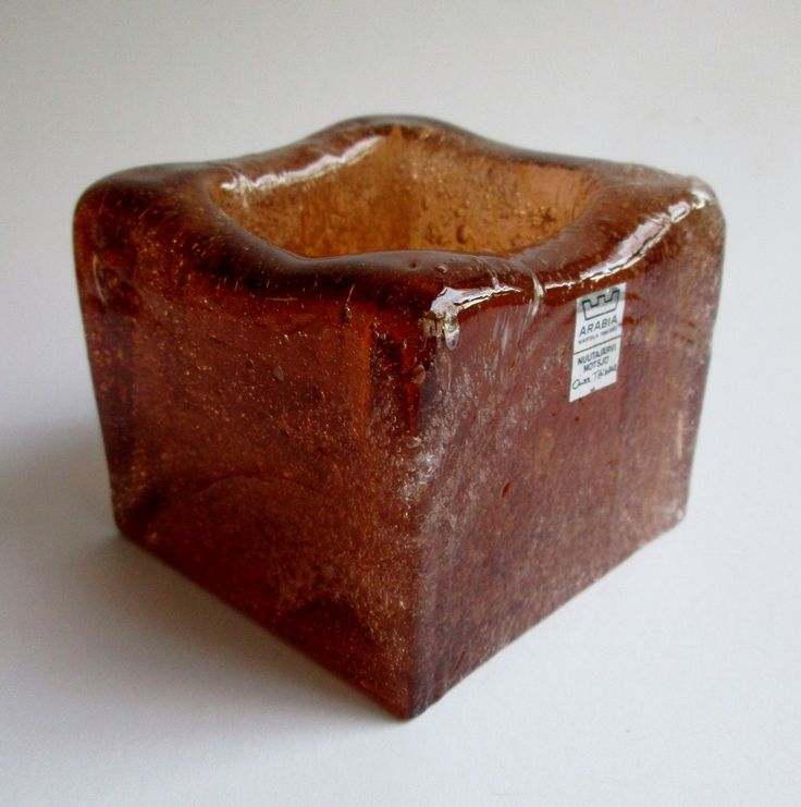 Iglu ashtray in brown 'rakkolasia' or 'blister glass' designed in 1973 by Oiva Toikka for Nuutajärvi Notsjö Finland by SCALDESIGN on Etsy