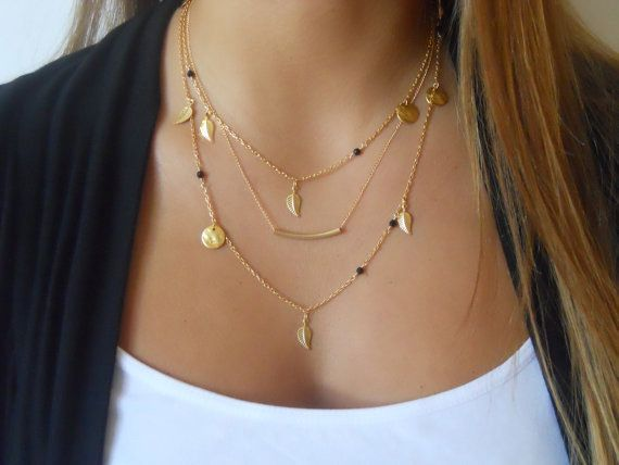Chain Beads & Leaves Necklace – My Lux Gem