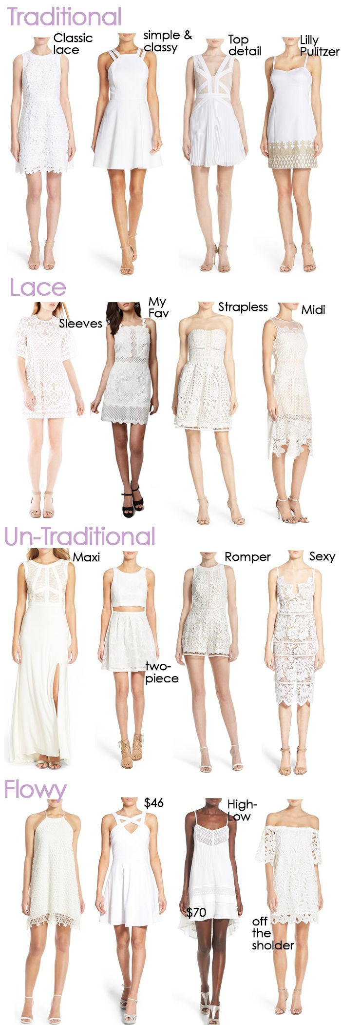 Perfect White Dresses For Graduation or Wedding Events