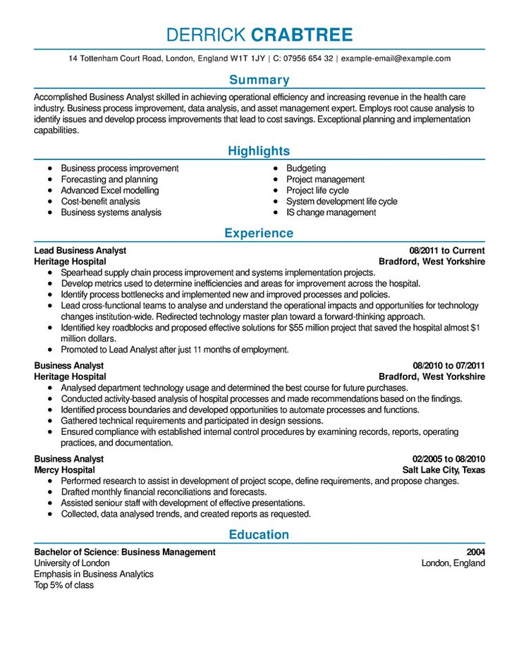 Best 25+ Free resume samples ideas on Pinterest Free resume - business analyst resume summary