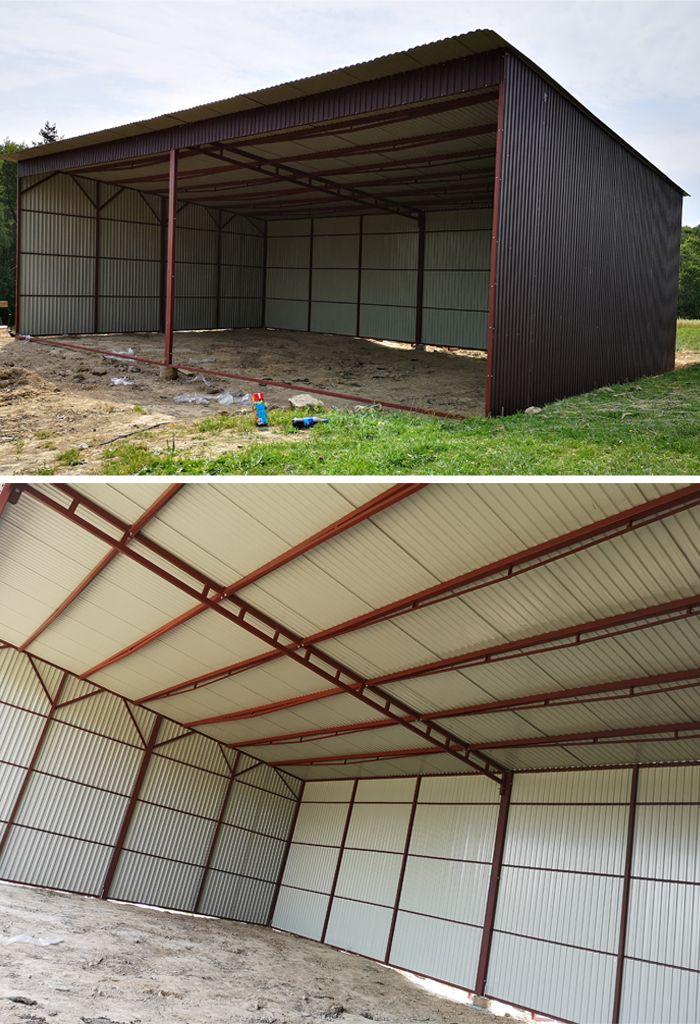 Wiaty Blaszane Na Sprzet Rolniczy Wiata Rolnicza Hala Garaz Blaszany Producent Garazy Steel Structure Buildings Carport Designs Metal Building Kits