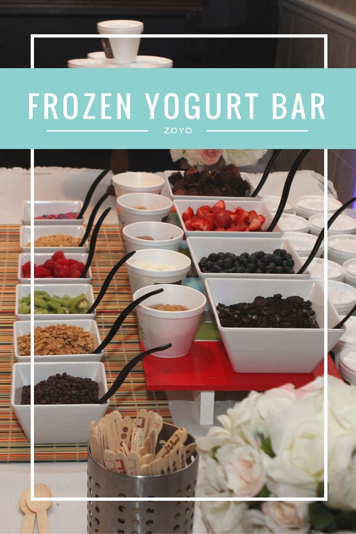 A frozen yogurt bar for wedding celebrations or other celebrations such as baby…
