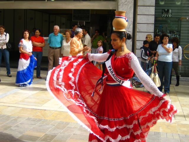 Typical Paraguay dance Galopera