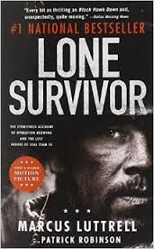 This nonfiction novel is written by navy seal Marcus Luttrell. The novel begins with Marcus's home life where he begins to train to become a Seal, and then transfers into the training and boot camp to becoming a Navy Seal, and finishes with a large battle between four navy seals and the Taliban called operation Red Wings, The book concludes with a lone survivor, Marcus Luttrell.