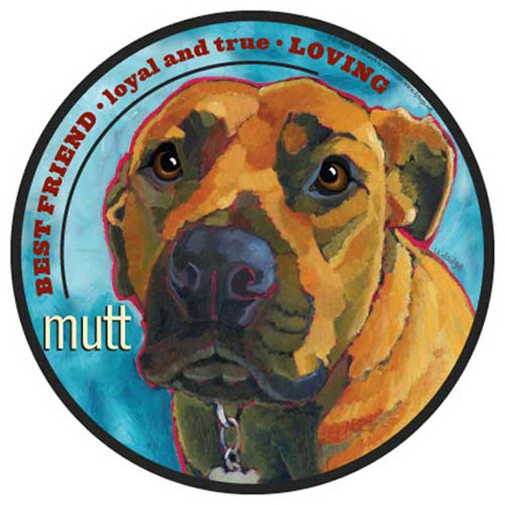 Mad Mags Car Magnet MUTT dog NEW