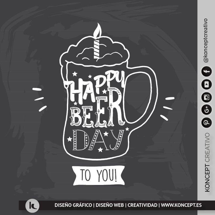 ¿Es el cumpleaños de un ser querido?¿tu amig@ celebra su cumpleaños? ¡Felicítalo con esta imagen divertida!http://www.koncept.es #felicitacion #felicidades #cumpleaños #cumpleañosfeliz #happybirthday #felizcumpleaños #happybeerday #beer #fiesta #party #amigos #amigas #amigosparasiempre #amicspersempre #mejoramigo #mejoramiga #friends #bestfriends #celebration #diseñografico #disenograficobarcelona #graphicdesigner #diseñadorgrafico #barcelona #bcn #amigo #amiga #diadelaamistad #cosaschulas