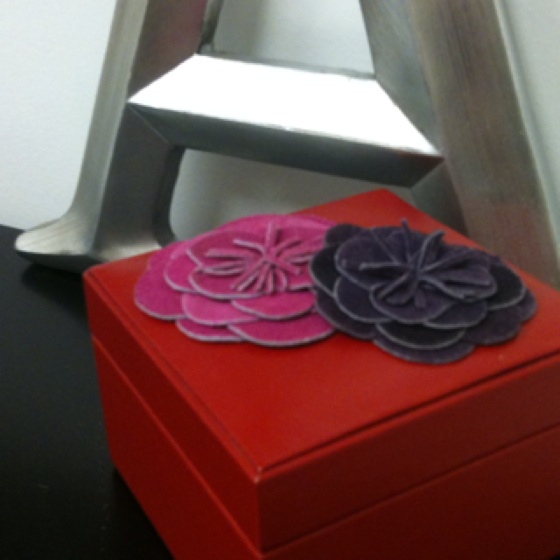 My red box leather flowers
