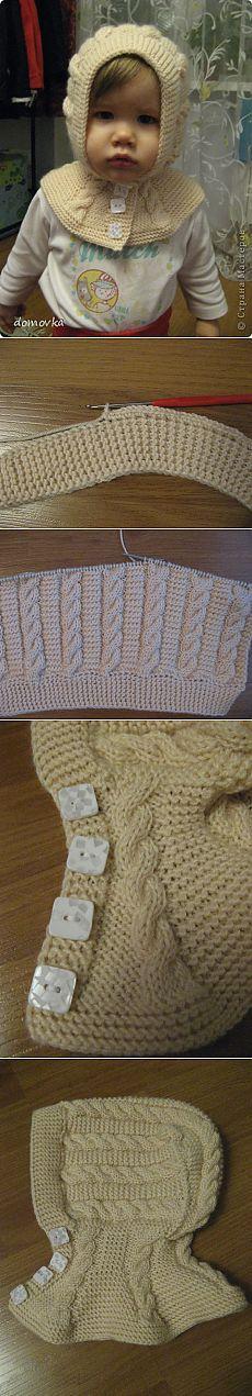 МК по вязанию шапки-шлема для девочки | Страна Мастеров