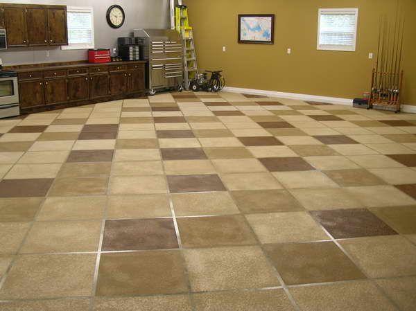 Great looking modern garage another garage floor idea for Great garage floors