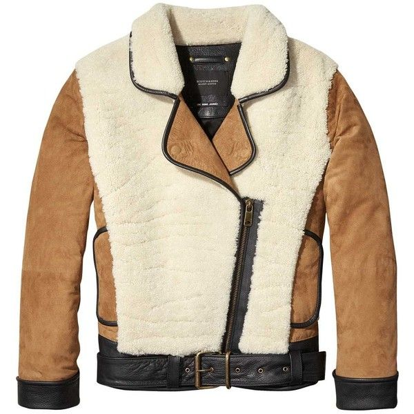 Teddy Suede Jacket Leather ($825) ❤ liked on Polyvore featuring outerwear, jackets, 100 leather jacket, suede leather jacket, genuine leather jackets, leather jackets and suede jacket