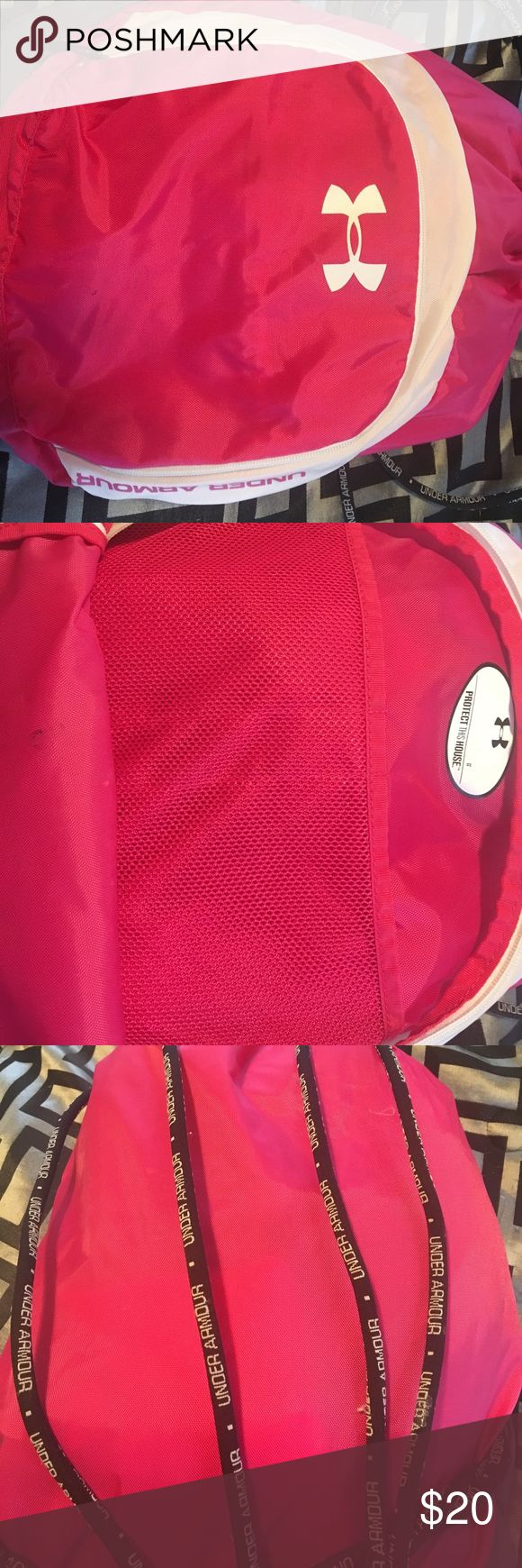 Small gym bag Pink under armor bag. Used a few times, nothing wrong. Under Armour Bags Backpacks