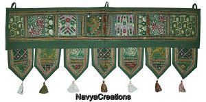 Embroidered Handmade Vintage Toran Door Topper Hanging Valance Indian Home Decor . Indian Handmade Cotton Vintage Embroidered Door Hanging Patchwork Toran Window Valance Topper Size (38 X 14 Inches)