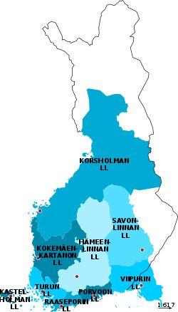 Suomen alueen linnaläänit 1595-1634