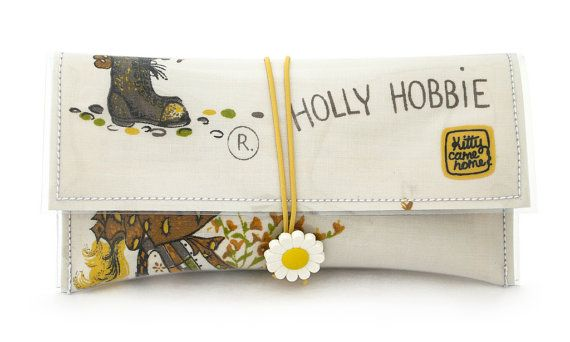 Vintage Fabric Button Clutch - Holly Hobbie