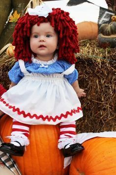 Raggedy Ann has been around for many years so she is very popular and this costume is so adorable.