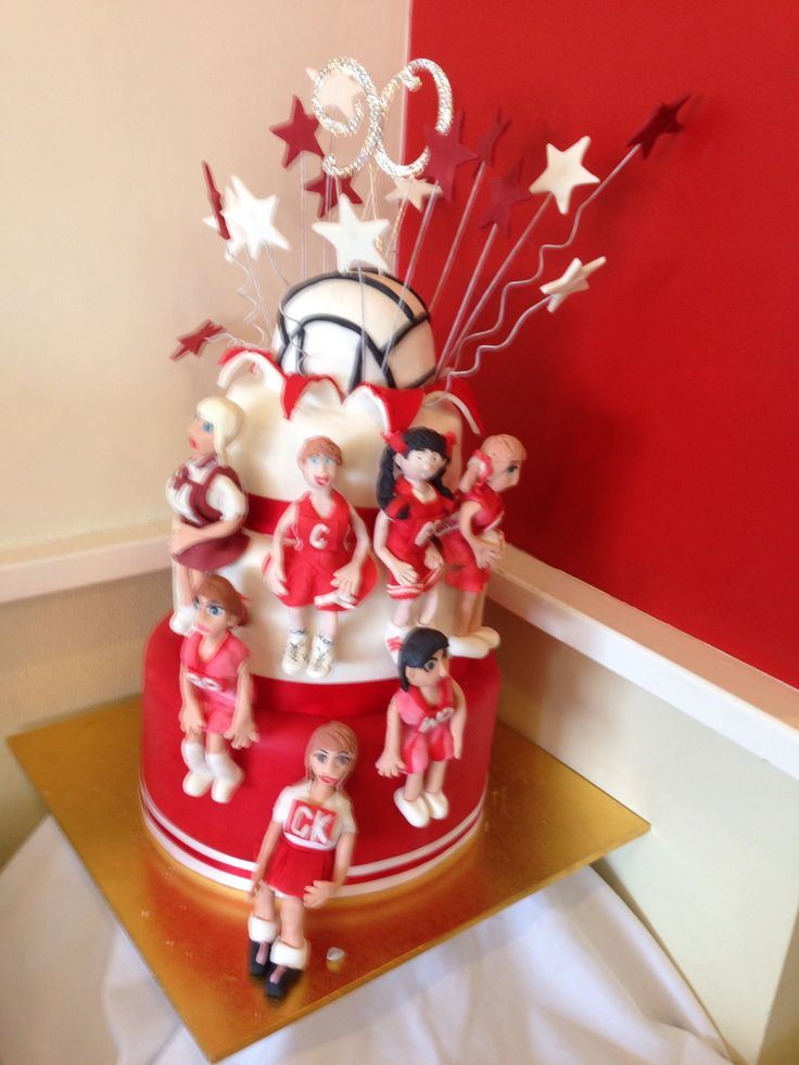 Netball cake for a 90th anniversary