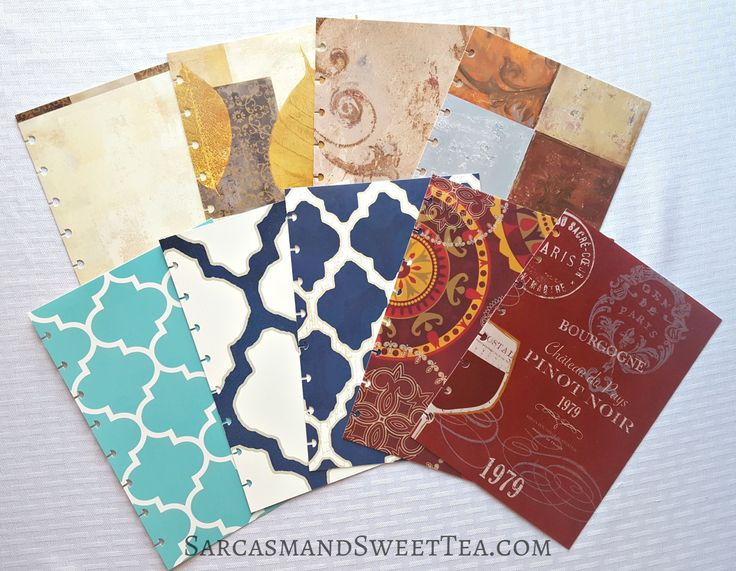 Unlimited DIY Planner Covers using placemats.