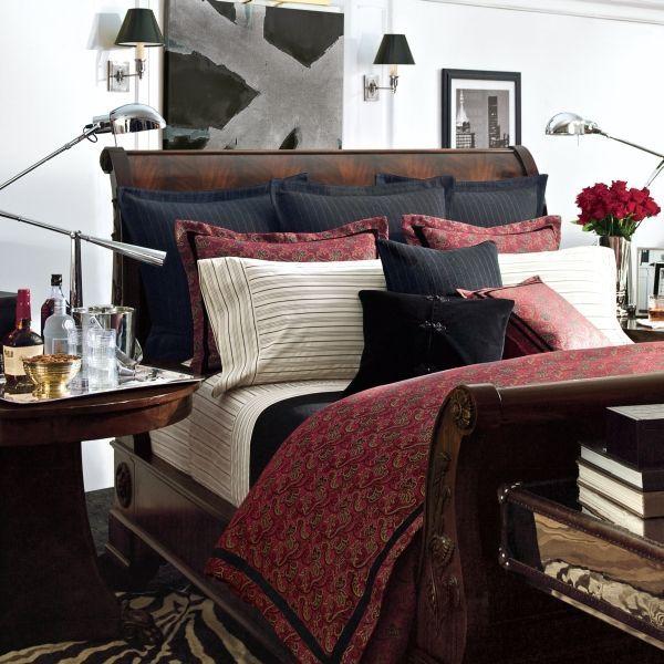 Ralph Lauren Bleeker Street Red Paisley 13p King Comforter