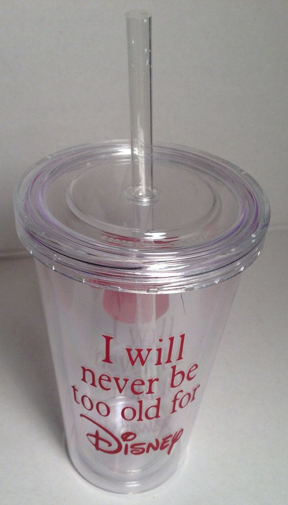 Vinyl Lettering - Acrylic Tumbler, Double Insulated, Custom Name, 16 oz. on Etsy, $8.00