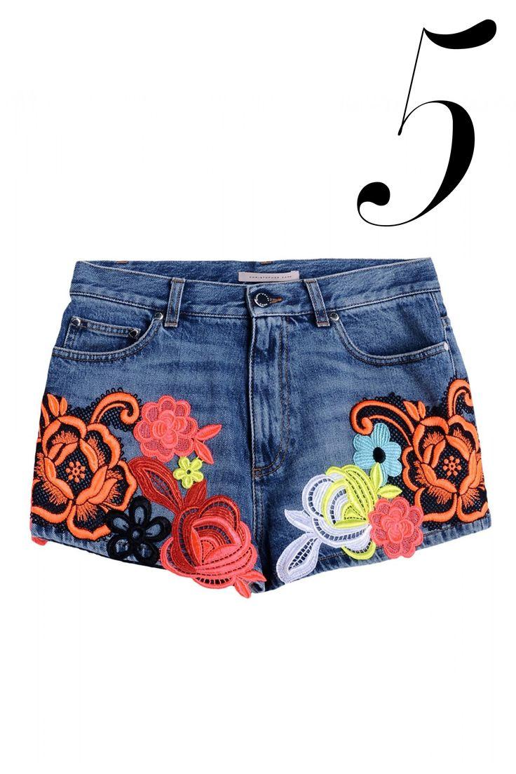 Let London's resident cool kid bring you flowers—in neon on short shorts. Christopher Kane shorts, $1,780, shopBAZAAR.com.   - HarpersBAZAAR.com