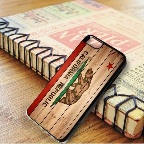 California Flag Wood Texture iPhone 6|iPhone 6S Case