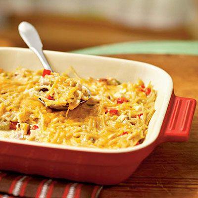 Aunt Liz's Chicken Spaghetti Casserole - Healthy Chicken Casseroles - Cooking Light