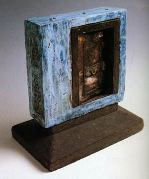 "Füreya Koral, ""Door space"", (front side), 25x25 cm, 1979 (Erdinç Bakla archive)"