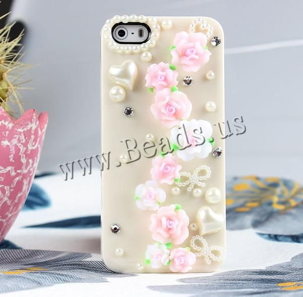 Customized Mobile Phone Cases, Plastic, with Polymer Clay