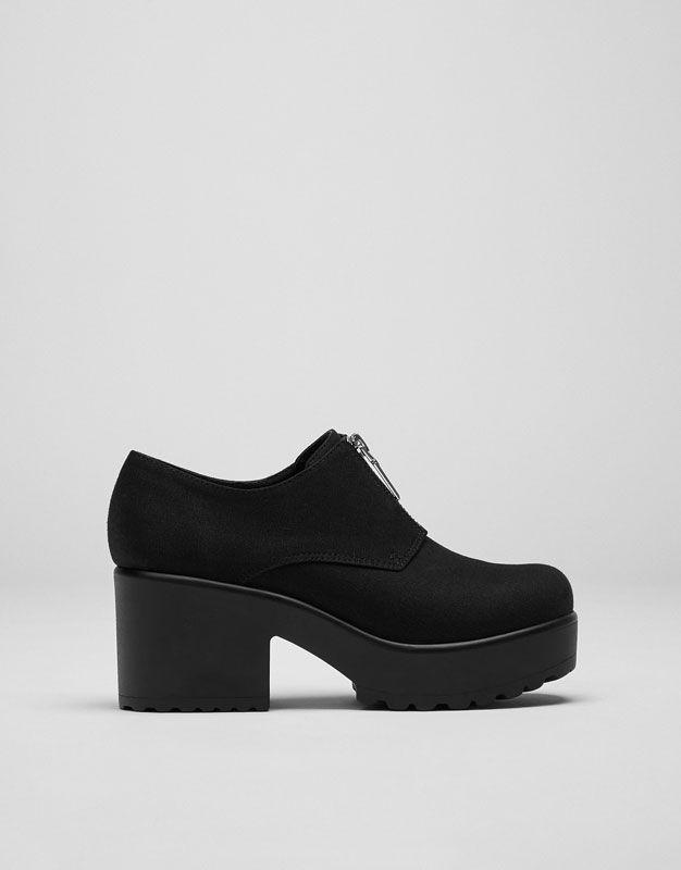 Zapato tacón cremallera - Ver todo - Calzado - Mujer - PULL&BEAR España