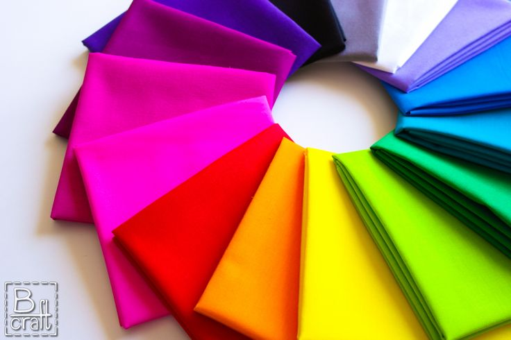 Play of colors. Classic Cottons solids.