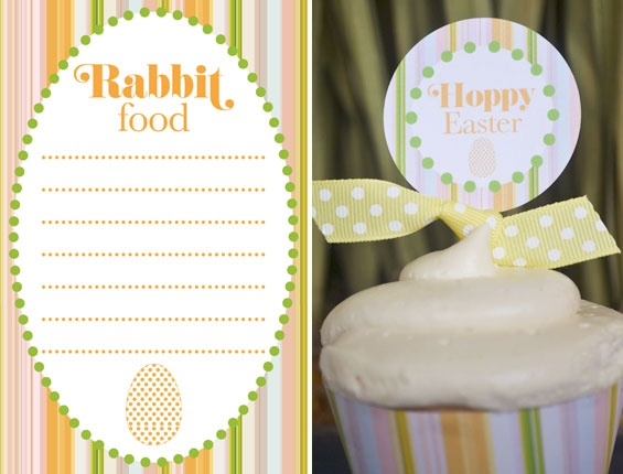 """Free """"Hoppy Easter"""" printables designed by @MJ Paperie, exclusively for Catch My Party!: Easter Printables, Printable Design"""
