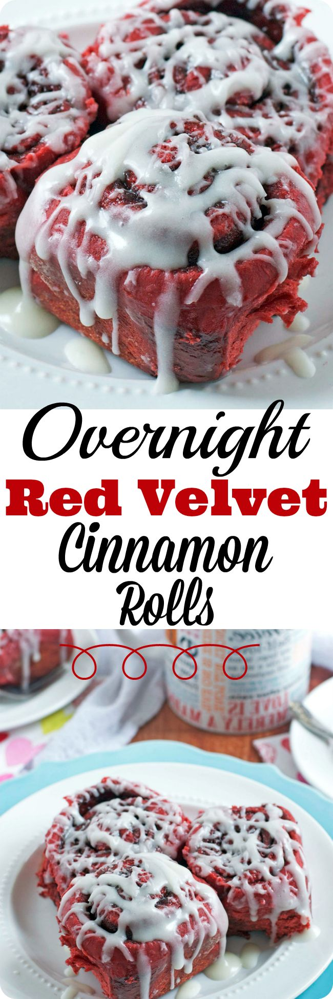 Tender, fluffy, and ooey-gooey buttermilk cinnamon rolls with the classic flavor of red velvet cake, topped off with cream cheese frosting.This overnight cinnamon roll recipe is prepped entirely the day before, so you can enjoy all the benefits of homemad (cinnamon roll glaze)