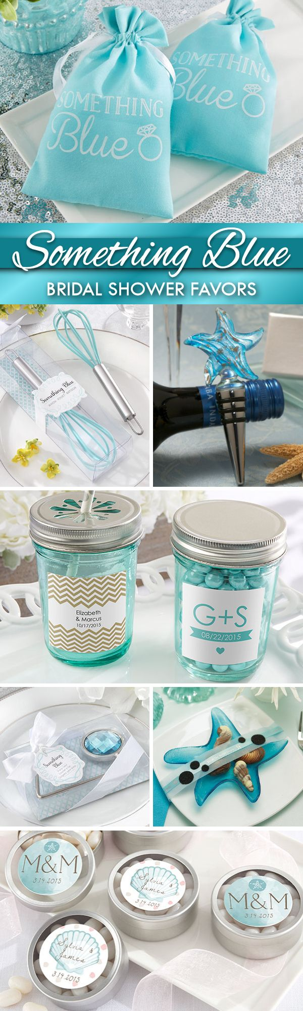 Throwing a Something Blue Bridal Shower?  Check out all of our fun blue-colored and ring-themed wedding shower favors that are perfect for the occasion!