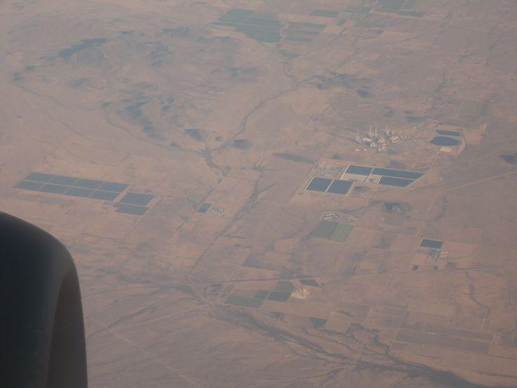 A large solar farm in Southern California desert