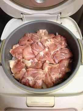 炊飯器でチキンカレー