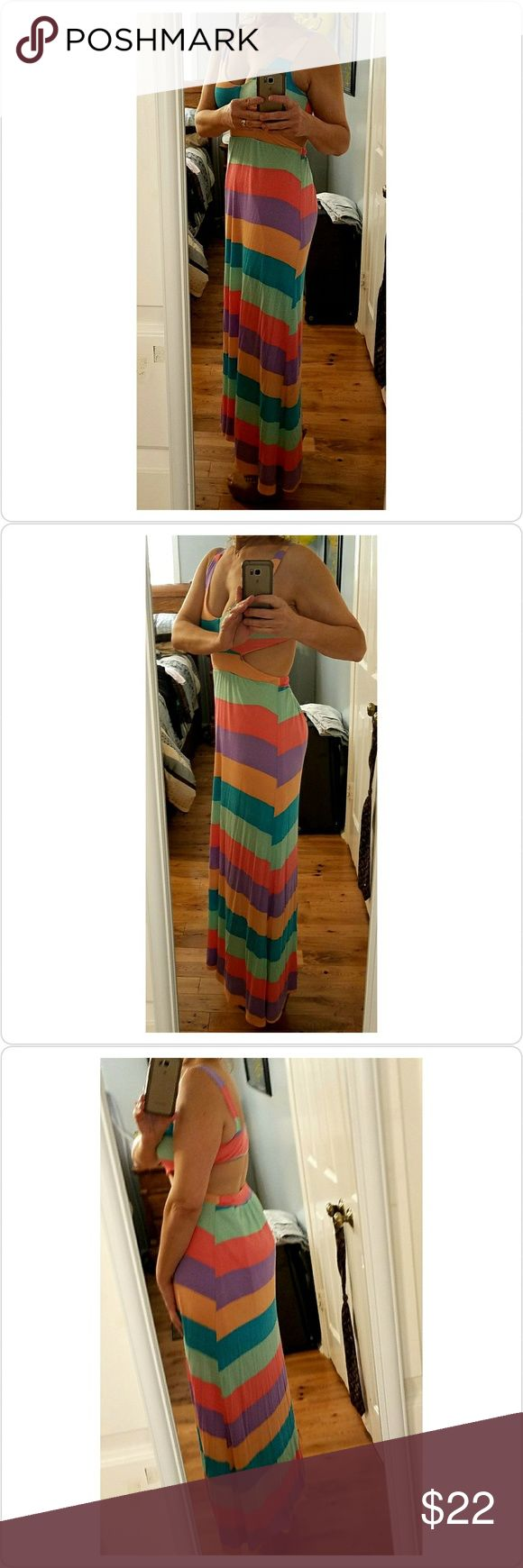 Dress from Red Dress Boutique Pastel-striped cuteness! Dresses Maxi