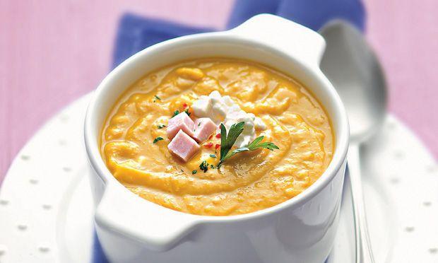 Creme de abóbora com queijo cottage